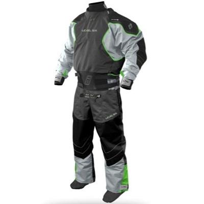 レベルシックス(LEVEL SIX) Emperor 3 Ply Dry Suit Charcoal S LS13A000000160 【カヌー カヤック ダブルウェスト ドライスーツ】の画像