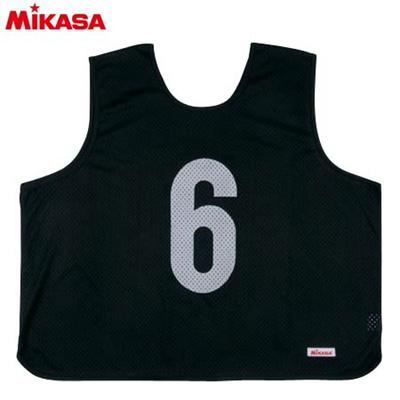 MIKASA(ミカサ) ゲームジャケット ラージサイズ (1~15番) GJL2-BK 【ビブス ゲームベスト 試合 練習用品】の画像