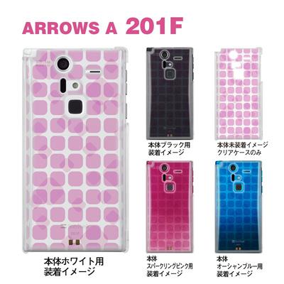 【ARROWS ケース】【201F】【Soft Bank】【カバー】【スマホケース】【クリアケース】【クリアーアーツ】【トランスペアレンツ】【カラーズ・ピンク】【タイル】 06-201f-ca0031q-pの画像