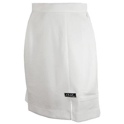 ABS(アメリカン ボウリング サービス) スリット スカート ホワイト P-3300-6 【Pro-ama ボウリングウェア レディース ボーリング】の画像