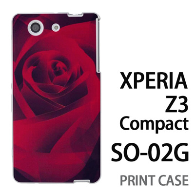 XPERIA Z3 Compact SO-02G 用『0111 薔薇アップ 赤』特殊印刷ケース【 xperia z3 compact so-02g so02g SO02G xperiaz3 エクスペリア エクスペリアz3 コンパクト docomo ケース プリント カバー スマホケース スマホカバー】の画像