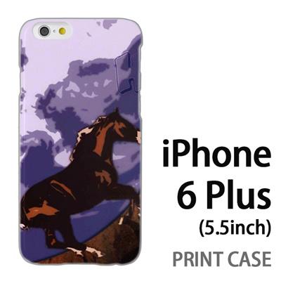 iPhone6 Plus (5.5インチ) 用『No1 H 青空の馬』特殊印刷ケース【 iphone6 plus iphone アイフォン アイフォン6 プラス au docomo softbank Apple ケース プリント カバー スマホケース スマホカバー 】の画像
