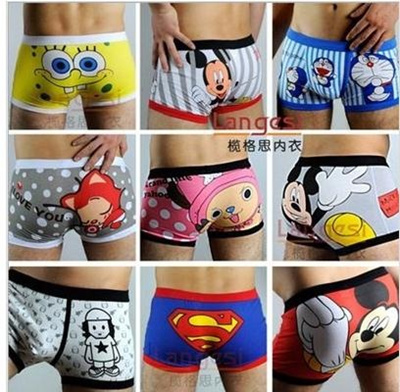 Buy Hot Sale!!!Mens Cute All Cartoon Underwear/100% Cotton Male ...