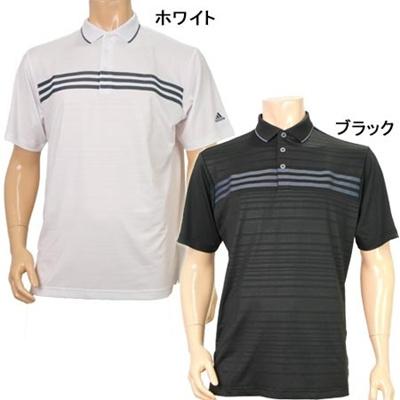 ◆即納◆アディダス(adidas) Clima Cool クライマクール スリーストライプ S/S ポロシャツ BH143 【メンズ ゴルフ ウェア 春夏 14】の画像