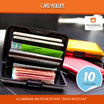 Aluminium Card Holder Wallet  Water Resistance Crush Resistance 10 Colors Available