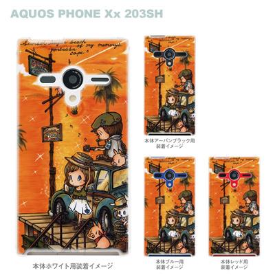 【AQUOS PHONEケース】【203SH】【Soft Bank】【カバー】【スマホケース】【クリアケース】【クリアーアーツ】【アート】【SWEET ROCK TOWN】 46-203sh-sh0012の画像