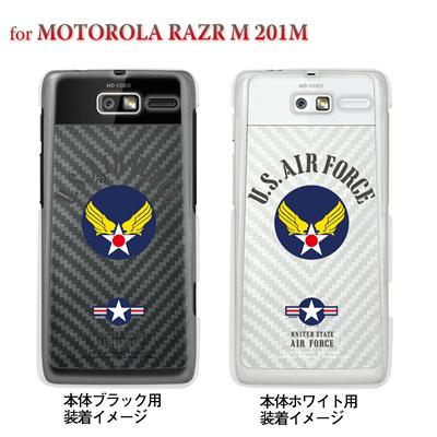 【MOTOROLA RAZR ケース】【201M】【Soft Bank】【カバー】【スマホケース】【クリアケース】【U.S AIR FORCE】 201m-ca-bs038の画像