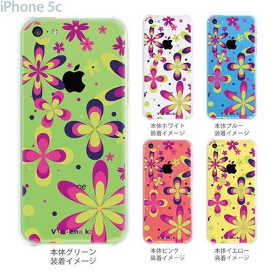 【iPhone5c】【iPhone5cケース】【iPhone5cカバー】【ケース】【カバー】【スマホケース】【クリアケース】【フラワー】【vuodenaika】 21-ip5c-ne0020caの画像