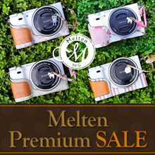 [Melten] Genuine Leather+Fabric Camera Half For Sony Alpha A6000