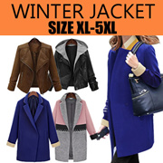 【BIG SALE】2017 Winter Womens Jackets Womens Blazers / Trench Coat PLUS SIZE