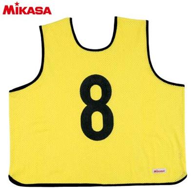 MIKASA(ミカサ) ゲームジャケット ラージサイズ (1~15番) GJL2-KY 【ビブス ゲームベスト 試合 練習用品】の画像