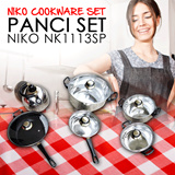 [DIJAMIN MURAH] PANCI SET NIKO NK1113SP (NIKO COOKWARE SET)HIGH QUALITY