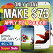 [MAKE $73!] SAMSUNG Galaxy S4 4G (LTE) 32GB/4G LTE Full HD (Unlocked)/[Refurbish]