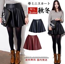 革ミニスカート人気  レディース ファッション スカート ミニスカート 革 ウエストゴム  ショート丈 可愛い PU 美脚