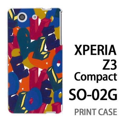 XPERIA Z3 Compact SO-02G 用『0112 トロピカルLOVE 黄』特殊印刷ケース【 xperia z3 compact so-02g so02g SO02G xperiaz3 エクスペリア エクスペリアz3 コンパクト docomo ケース プリント カバー スマホケース スマホカバー】の画像