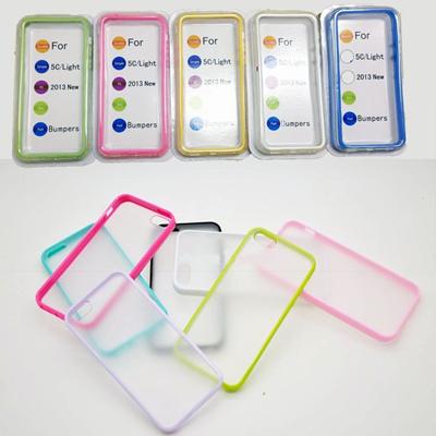 iphone5c クリアカラーバンパー&背面ありカラーバンパー(定形外郵便送料無料)即納です。売り切れ御免 ★決算セールの画像