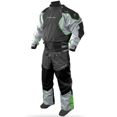 レベルシックス(LEVEL SIX) Emperor 3 Ply Dry Suit Charcoal L LS13A000000162 【カヌー カヤック ダブルウェスト ドライスーツ】の画像