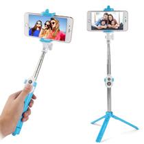 自撮り棒付き ミニ三脚 セルフタイマー シャッターリモコン selfie スティック bluetooth