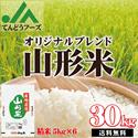 JAてんどうフーズオリジナル【山形県産米の銘柄米100%使用!山形米30kg(5kg×6)】中米(粒の小さな米)や未検査米(銘柄を特定でき米)は使っていません。山形産の銘柄米のみを使用しているから米粒が大きくて旨味もしっかり!!つやひめ・はえぬきを始め、日本の美味い銘柄米の産地〝山形〟徹底した品質検査とJAグループの本格的な施設で、美味さと安全に拘ったブレンド米です。【東北関東甲信越/送料無料】