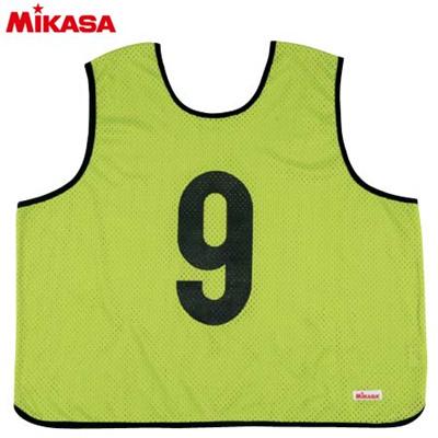 MIKASA(ミカサ) ゲームジャケット ラージサイズ (1~15番) GJL2-KG 【ビブス ゲームベスト 試合 練習用品】の画像