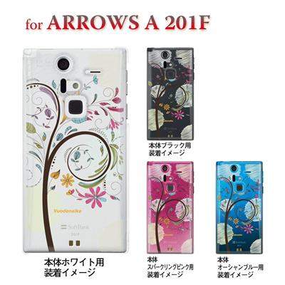【ARROWS ケース】【201F】【Soft Bank】【カバー】【スマホケース】【クリアケース】【フラワー】【Vuodenaika】 21-201f-ne0024caの画像