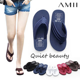 TIME SALE! Fresh Discount!! Take it now!!!Womens flip-flops/ 2015 summer new arrival/ simple solid color/ antiskid durable slippers/ casual beach flats/ classic color/ multicolor options【M18】[AMII]