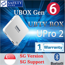 UNBLOCK Tech TV BOX Ubox Gen 6 UPro / UPro 2 Bluetooth SG version | Official Warranty