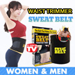 ⏰50% OFF★ 💯Effective!! Tummy Sweat Belt /  Tummy Detox/ Waist Trimmer / burn excess body fat U.P$20