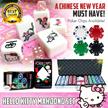 ★Best Mother Gift ★HELLO KITTY MAHJONG SET ☆ Singapore 148 Tiles ☆ Free Tiles ★Casino Chips ★Poker