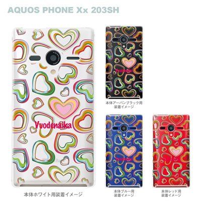 【AQUOS PHONEケース】【203SH】【Soft Bank】【カバー】【スマホケース】【クリアケース】【Vuodenaika】【フラワー】 21-203sh-ne0004caの画像