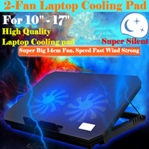 Laptops 14-15.6 Inch Laptop Fan Notebook Cooler Laptop Cooling Rack Computer Fan Base Plate Pad heatsink base/4-Fan Rapid Cooling / Temperature Drop Fast /Blue LED Light Ultra Slim Silent Radiator