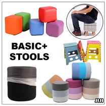 ★BASIC+ Chair Stools ★42cm Height ★Fabric/PU Leather ★Storage ★Organizer ★Table