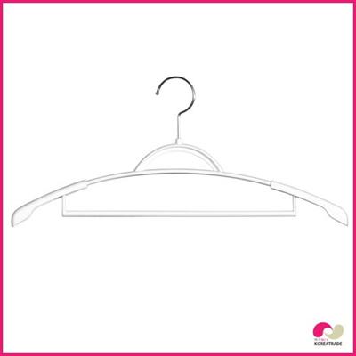 【期間限定!100円イベント】【日用品】 スライドジャケットハンガー(Slide Jacket Hanger)3本組ホワイトの画像
