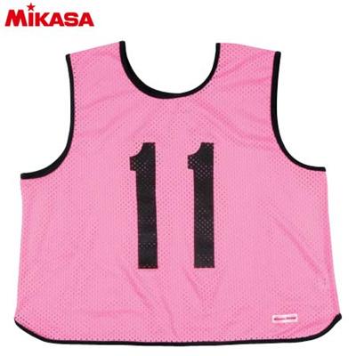 MIKASA(ミカサ) ゲームジャケット ラージサイズ (1~15番) GJL2-P 【ビブス ゲームベスト 試合 練習用品】の画像