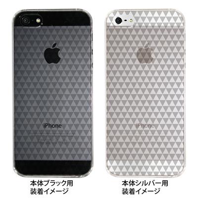 【iPhone5S】【iPhone5】【Clear Arts】【iPhone5ケース】【カバー】【スマホケース】【クリアケース】【チェック・ボーダー・ドット】【トライアングル】 08-ip5-ca0085の画像
