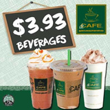 [dr.CAFE COFFEE] $3.93 for Hot or Iced Beverages! Redeem at 5 Outlets Daily All Day! Upsize of Beverage available. Halal-Certified Coffee Chain.