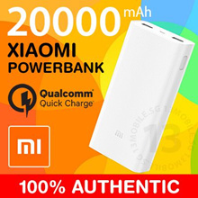 OVER 22000 REVIEWS ★ 100% Authentic Xiaomi Powerbank Portable Battery Charger QC3.0 Quick Charge