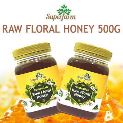 (FREE DELIVERY TODAY!!) ? SuperFarm AUSTRALIAN RAW FLORAL HONEY 500G ORIGINAL Deals for only S$38 instead of S$0