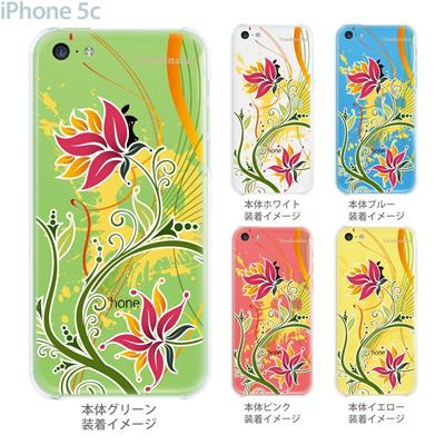 【iPhone5c】【iPhone5cケース】【iPhone5cカバー】【ケース】【カバー】【スマホケース】【クリアケース】【フラワー】【vuodenaika】 21-ip5c-ne0025caの画像