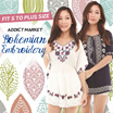 Addict Market★Bohemian Style Embroidery Tops/Blouse/Dress Fit Small to Plus Size