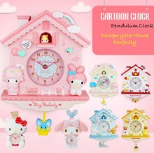 💖 Pendulum Wall Clocks 💖 Hello Kitty/ Melody/ Twin Star/ Purin/ Cinnamon Office Home Wall Clock 💖
