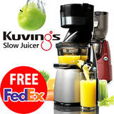 [ FREE FEDEX SHIPPING ] NUC Kuvings Whole Slow Juicer Extractor Mixer cuttless 220V-240V KJ-623S KJ-622R B6000S silver red