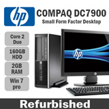 Refurbished HP Compaq DC7900 Small Form Factor/ Core 2 duo / 2GB RAM / 160GB HDD / win 7 / DVD RW