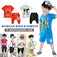 [BUY 2 FREE SHIPPING]2015 summer NEW version★korean style kids fashion/t-shirts+pants set/outfit set/children tee/short sleeve/short pants/half pants/sports wear/cartoon tshirt/cotton/baby/boys/girls/