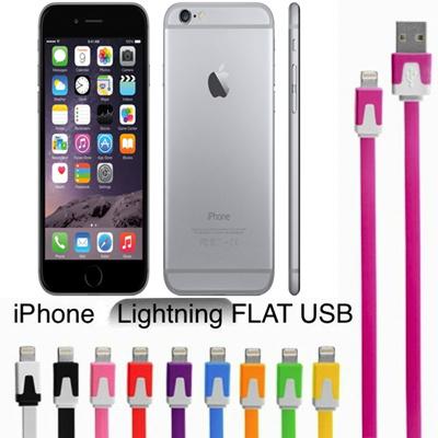 [国内発送]新型iphone6s/5/5s/5c/ ipad mini Lightning フラットカラフル USB カラフル Dockケーブルの画像