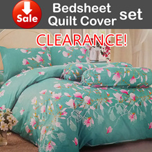 CLEARANCE!【V-home Quilt cover/Bedsheet set】Cheap n good!