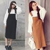 韓国秋冬ファッションワンピース秋冬 ゆったり きれいめ
