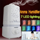 7 LED Lighting Ultrasonic Aroma Humidifier Aromatherapy Air Purifier Mist with 7 Auto Colors Changings and Mist Adjustment Mode/Mist Diffuser/Aroma Oil/Skin Care/Breathe Well/Super Quiet