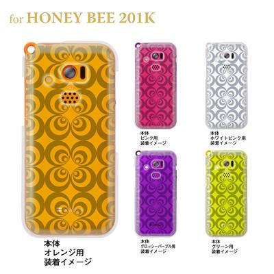 【HONEY BEE ケース】【201K】【Soft Bank】【カバー】【スマホケース】【クリアケース】【トランスペアレンツ】【レトロサークル】 06-201k-ca0021eの画像