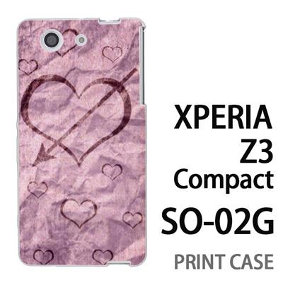 XPERIA Z3 Compact SO-02G 用『No4 和紙ハート矢』特殊印刷ケース【 xperia z3 compact so-02g so02g SO02G xperiaz3 エクスペリア エクスペリアz3 コンパクト docomo ケース プリント カバー スマホケース スマホカバー】の画像